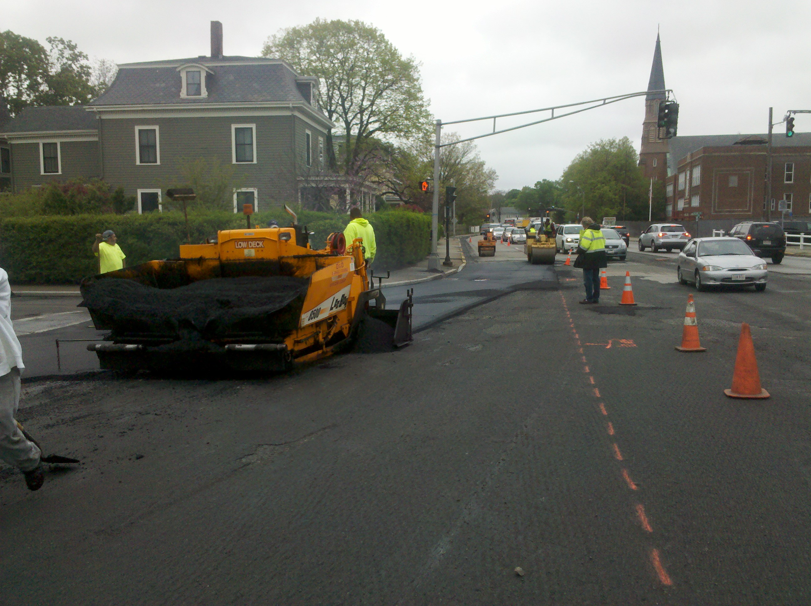 A job on Washington Street in Newton, M.A.