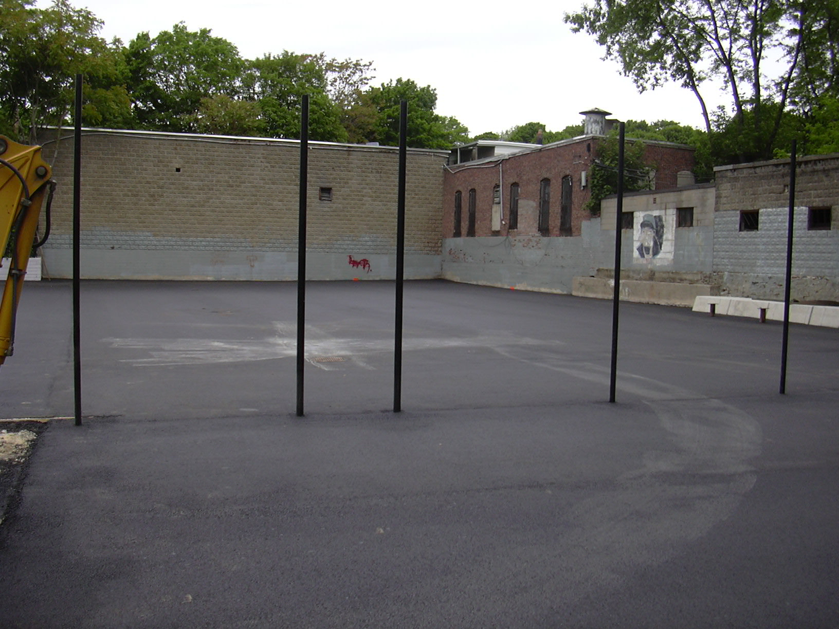 A tennis court completed in Dorchester, M.A.